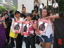 Plantón de la Red Mexicana de Trabajo Sexual en la XVII Conferencia Internacional de Sida en la Ciudad de México (2008)