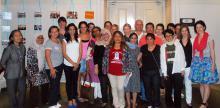 """""""Algunas/os participantes en la investigación internacional de la GAATW con sobrevivientes de trata de personas"""
