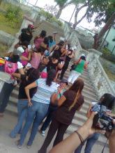 Protesta de trabajadoras sexuales y Brigada Callejera en Coatzacoalcos, Veracruz el año pasado (2012).