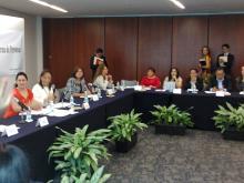 Foto panorámica de la reunión de la Comisión Contra la Trata de Personas y OSC